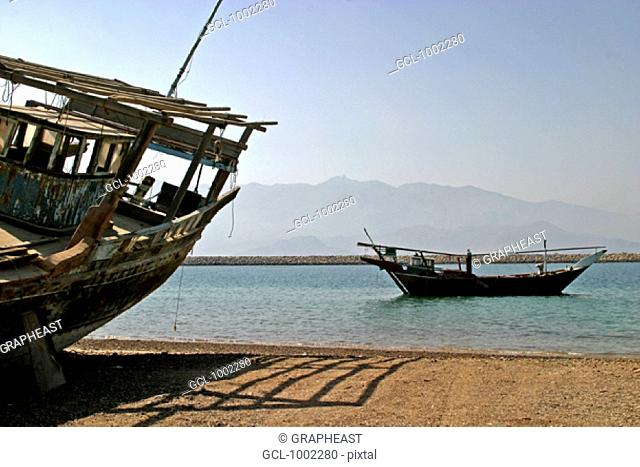 Dhows in the Oman Gulf, Fujeirah, United Arab Emirates