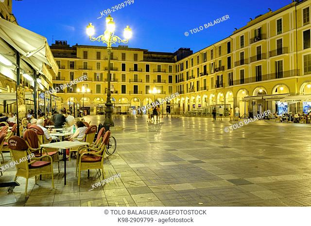 plaza mayor, Palma, Mallorca, balearic islands, Spain