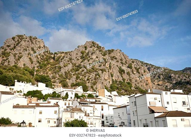 Views of Ubrique, Cadiz. This village is part of the pueblos blancos (white towns) in southern Spain Andalusia region, and reminds the Arab past