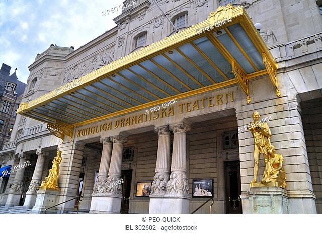The entrance of Dramaten, Stockholm, Sweden