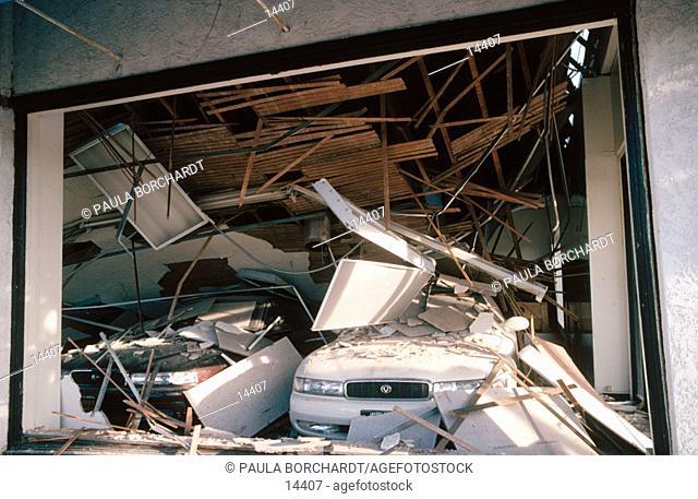 Earthquake effects. Los Angeles. California. USA