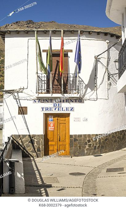 Town hall. Village of Trevelez, Alpujarras, Andalucia, Spain