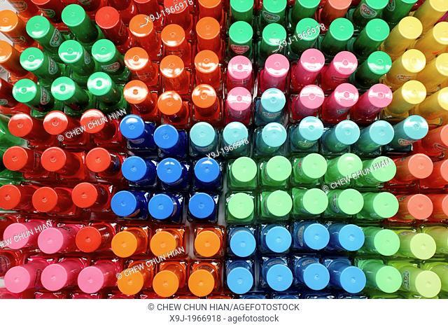 color pattern of nail polish bottles, nail enamel