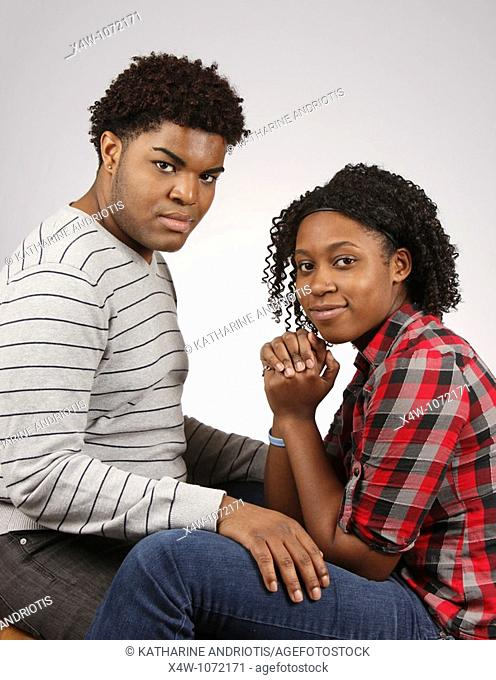 Young African-American couple posing for portrait  © Katharine Andriotis