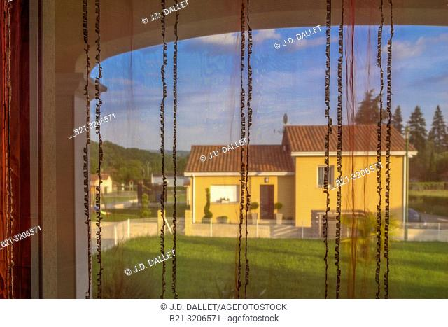 France, Auvergne, Cantal, Privat house at Maurs
