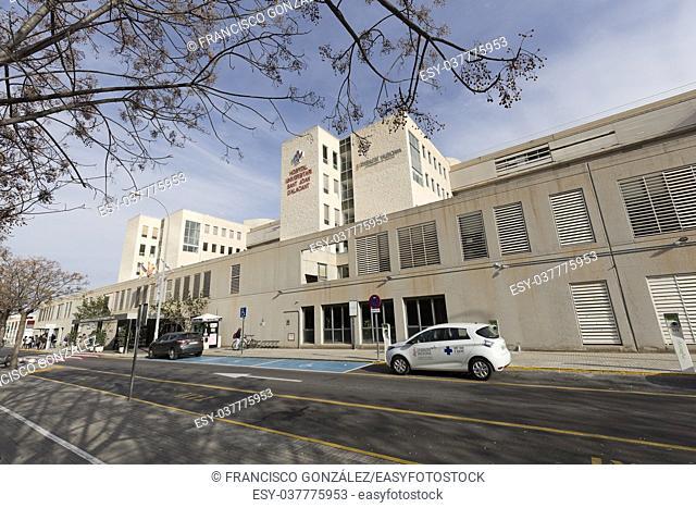 San Juan Alicante, Spain. November 3, 2017: Building of the University Hospital of San Juan de Alicante
