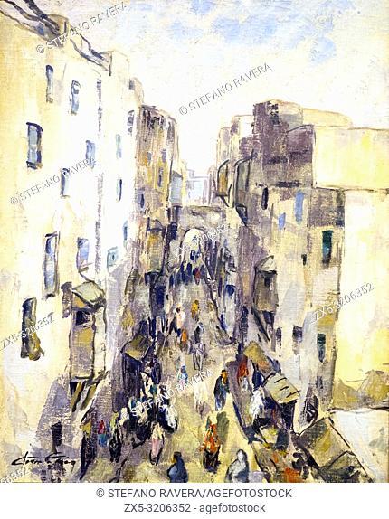 Rue du Mellah a Mogador by Jean Lair (1889-?)