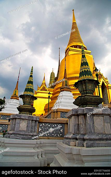 thailand asia  in bangkok rain temple abstract cross colors roof wat palaces   sky   and colors religion   mosaic