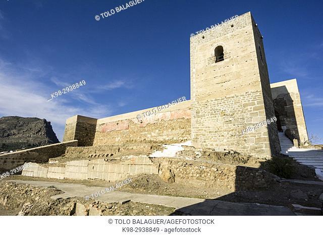 Alora Castle, siglo X, Cerro de Las Torres. monumento nacional, Álora, Malaga, Andalucia, Spain