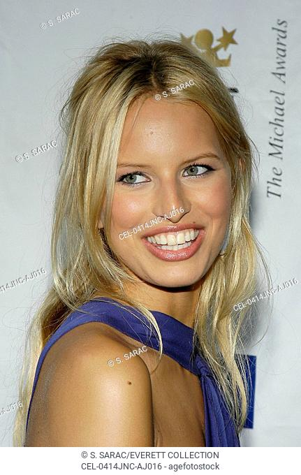Model Karolina Kurkova at 10th Annual Michael Awards at Capitale, June 14, 2004 New York City.(photo by S. Sarac/Everett Collection)
