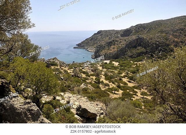Lissos archeologic site, Crete, Greece