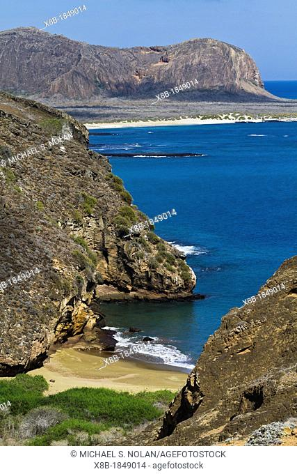 View of Punta Pitt on San Cristobal Island in the Galapagos Island Archipelago, Ecuador