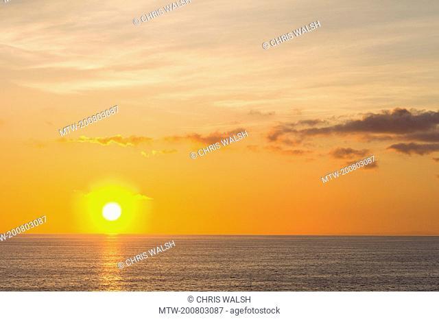 Sunrise sun ocean Mediterranean sea golden