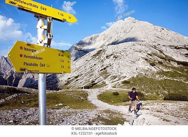 Adlerweg hiking trail, Innsbruck, Tyrol, Austria