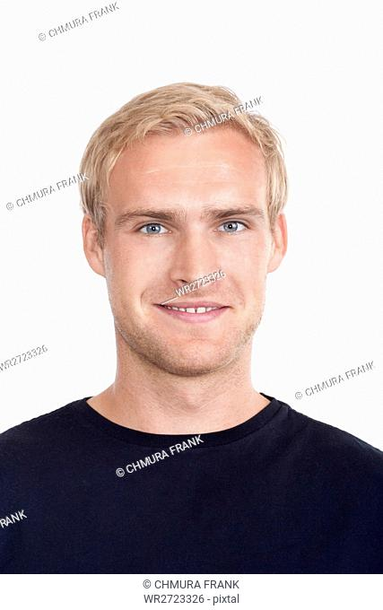 adult, attractive, beauty, blond, blue, boy, casual, Caucasian, eyes, face, guy, hair, handsome, head, isolated, looking, male, man, model, person, portrait