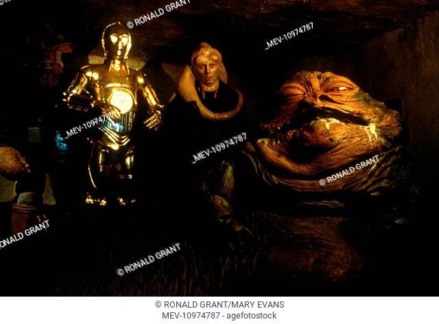 STAR WARS: EPISODE VI - RETURN OF THE JEDI [US 1983] C-3PO, JABBA THE HUT