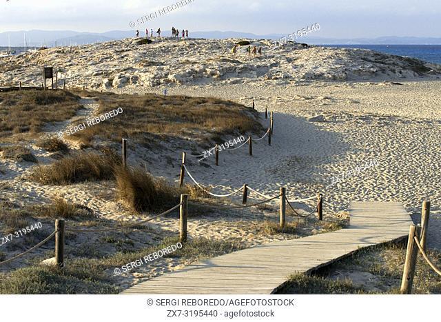 Sa Roqueta Beach and Ses Illetes Beach, Balearic Islands, Formentera, Spain