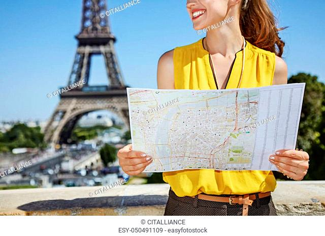 Paris tourist map closeup Stock Photos and Images | age ...