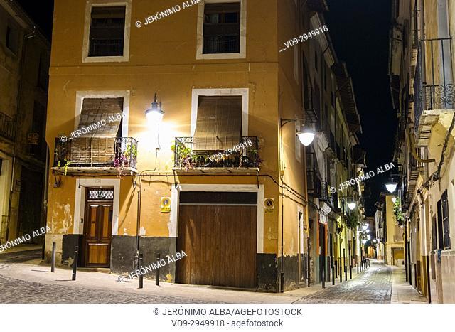 El Cid road. Historical Center, Xativa. Valencia province. Comunidad Valenciana. Spain Europe