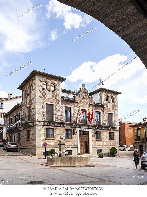 Ayuntamiento de Mombeltrán. Barranco de las cinco villas. Valle del Tiétar. Provincia de Ávila, Castile-Leon, Spain