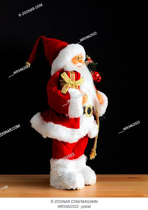 An image of a Santa Claus figure side view