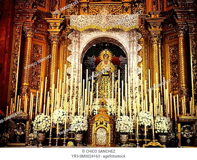 The Virgin of Hope known as the Virgin of Macarena in Seville, Spain