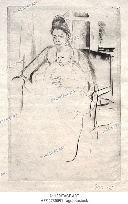 Mrs. Gardner Cassatt and Her Baby Seated near a Window, c. 1887. Creator: Mary Cassatt (American, 1844-1926)