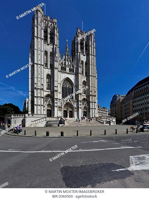 St. Michael and St. Gudula Cathedral, Brussels, Belgium, Benelux, Europe