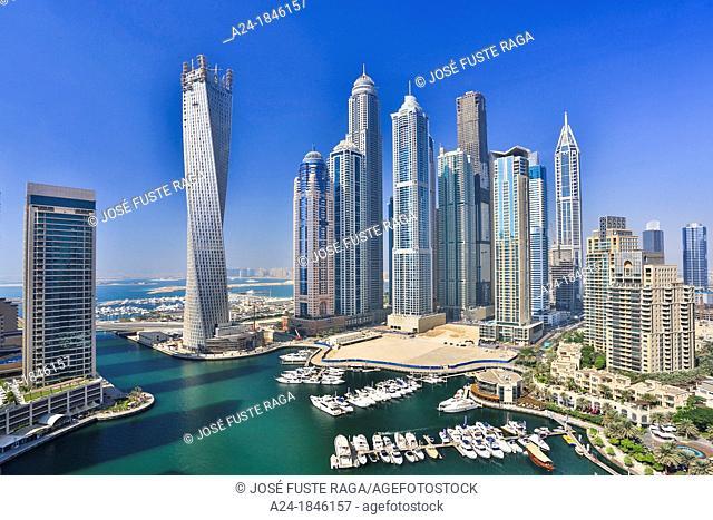 United Arab Emirates UAE , Dubai City , Dubai Marina, Infinty Bldg