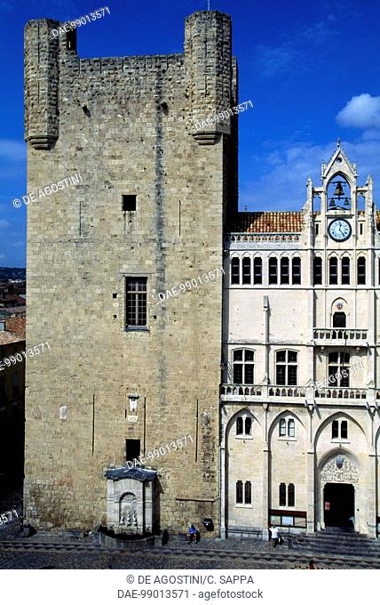 Gilles Aycelin dungeon, 1290-1311, Place de l'Hotel de Ville, Narbonne, Languedoc-Roussillon. France, 13th-14th century
