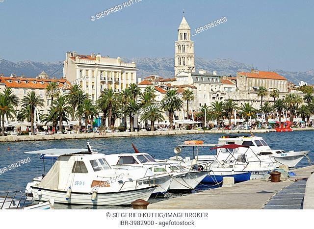 Boats, promenade, Split, Dalmatia, Croatia