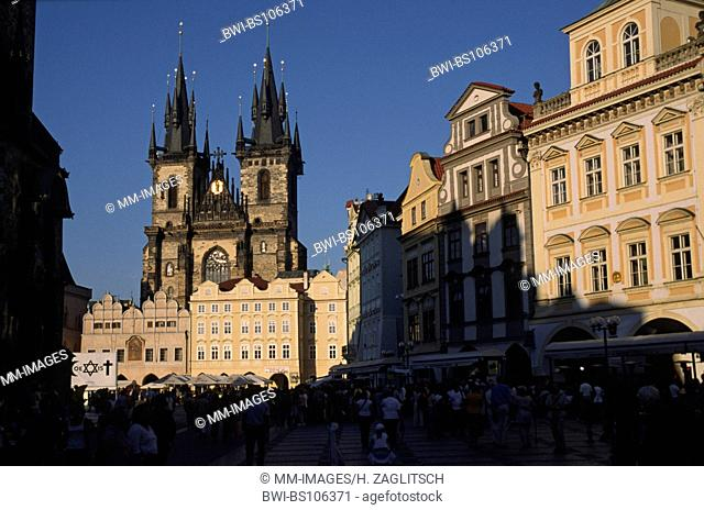 Old Town of Praque with the Church of Tyn, Czech Republic, Prague