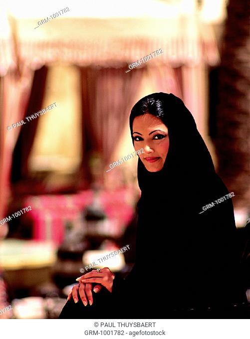 Portrait of an Arab woman