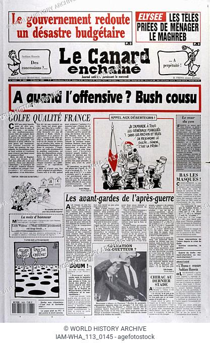 Headline in the French satirical newspaper 'Le Canard Enchaine' 13th February 1991, referring to the formation of the Gulf War coalition of allies including...
