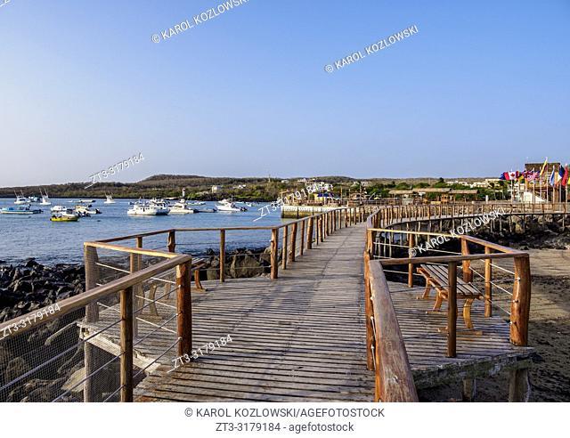 Promenade in Puerto Baquerizo Moreno, San Cristobal or Chatham Island, Galapagos, Ecuador
