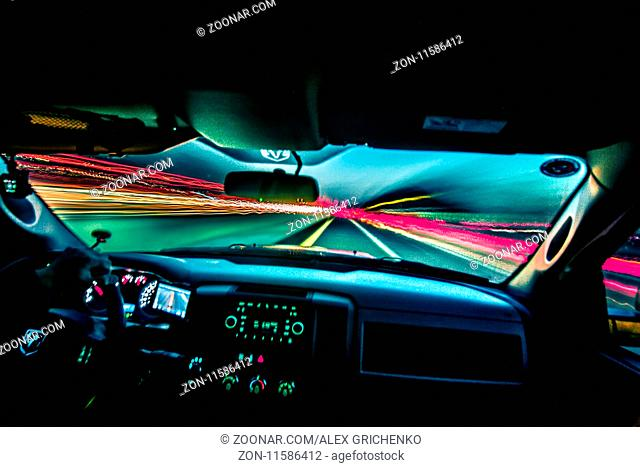 driving fast and traveling at speed of light