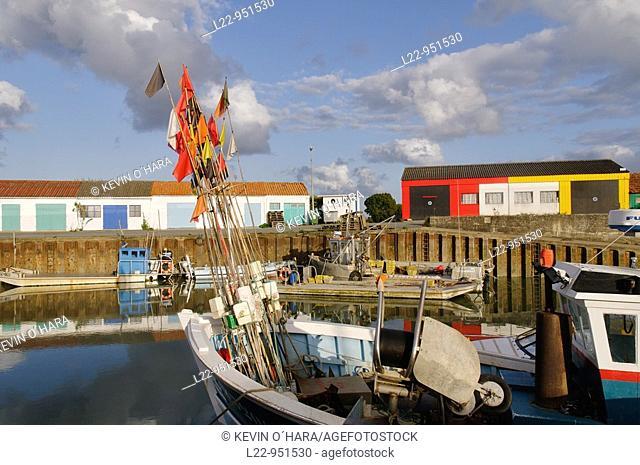 Oyster farming port of Saint-Trojan-les-Bains. Island of Oléron. Charente-Maritime province. Atlantic Coast. France