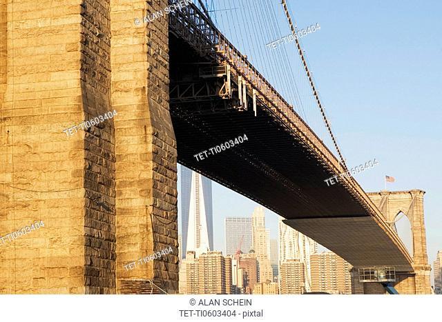 Brooklyn Bridge and Manhattan in distance