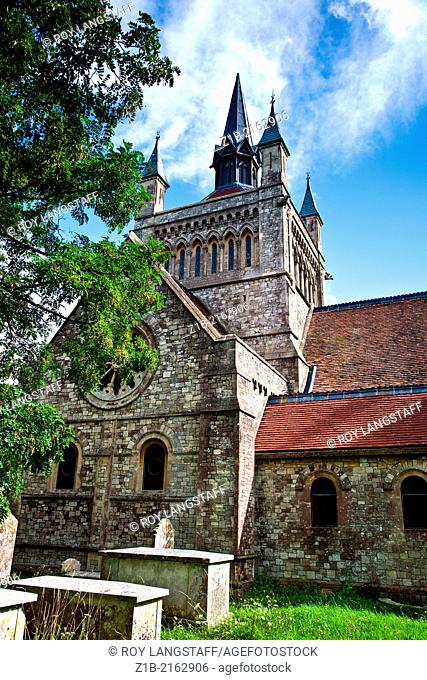 Whippingham Church, designed by Queen Victoria's husband Albert, Isle of Wight, England