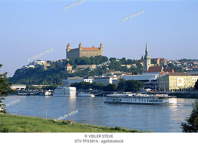 Bratislavia, City, Danube, Holiday, Landmark, River, Skyline, Slovakia, Europe, Tourism, Travel, Vacation