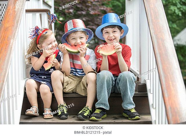 Children celebrating Independence Day together