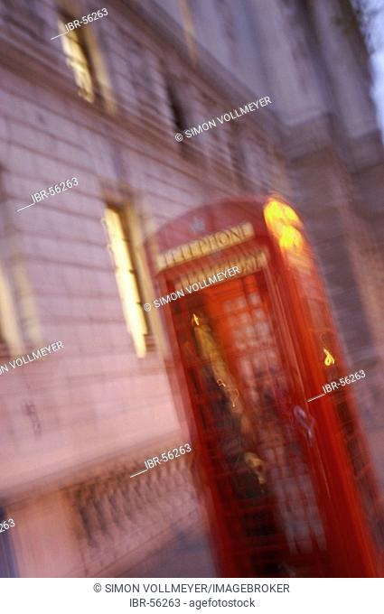 Telephone box at night London