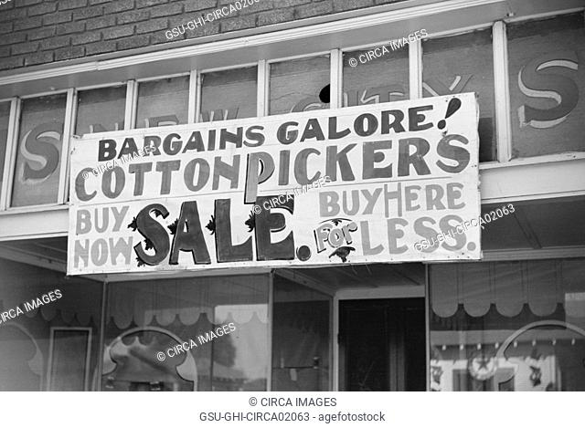 Store Sale Sign, Merigold, Mississippi, USA, Marion Post Wolcott for Farm Security Administration, October 1939