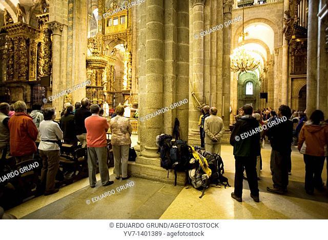 Pilgrim's Mass in Santiago de Compostela's Cathedral  Santiago de Compostela, Coruña, Galicia, Spain
