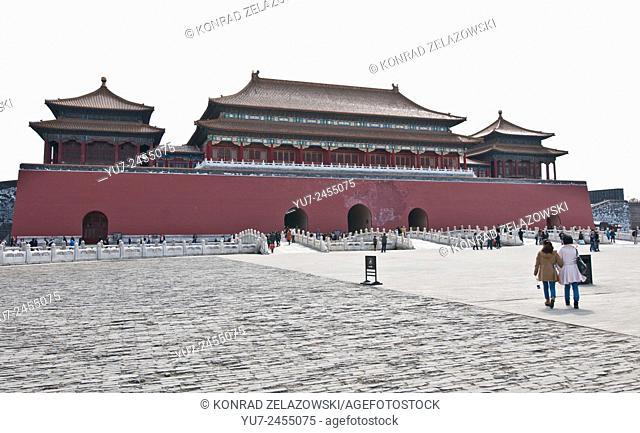 Meridian Gate (Wumen) in Forbidden City, Beijing, China