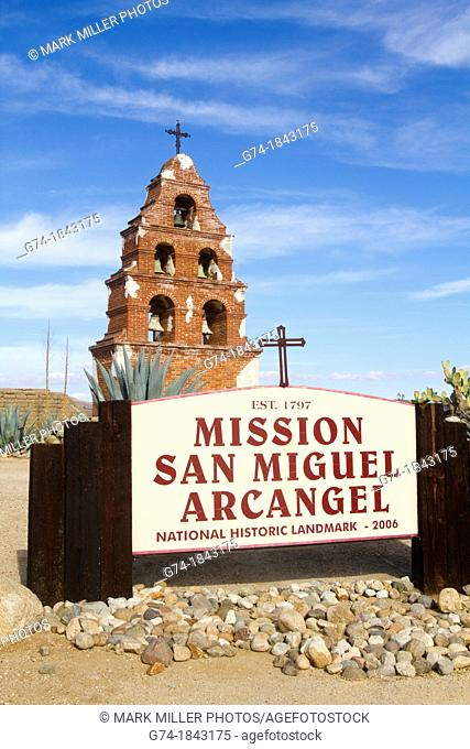 Historic Mission San Miguel in California USA