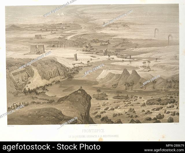 Frontispice de la deuxième cataracte a la Méditerranée. Horeau, Hector, 1801-1872 (Illustrator) Imp. de Bougeard (Printer of plates) Himley, S