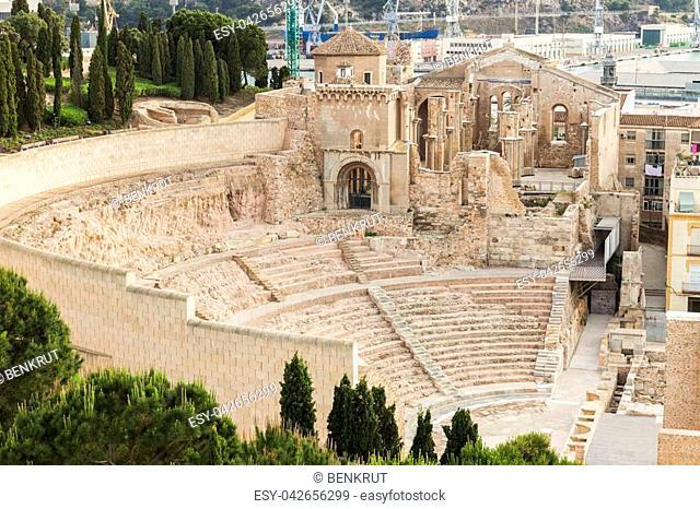 Roman Theatre in Cartagena. Cartagena, Murcia, Spain