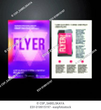 Abstract Brochure Flyer design vector template