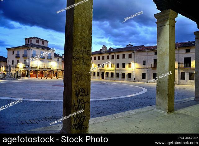 Main square of Torrelaguna, Madrid, Spain